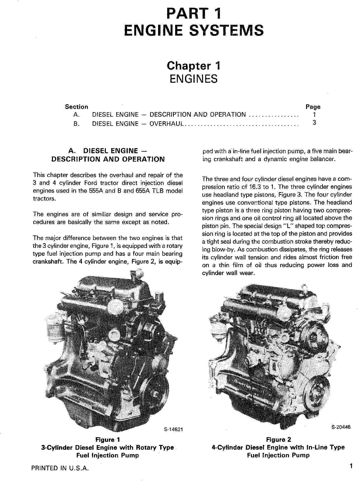 Ford 555A, 555B, 655, 655A Tractor Loader Backhoe Complete Service Repair Manual - 3