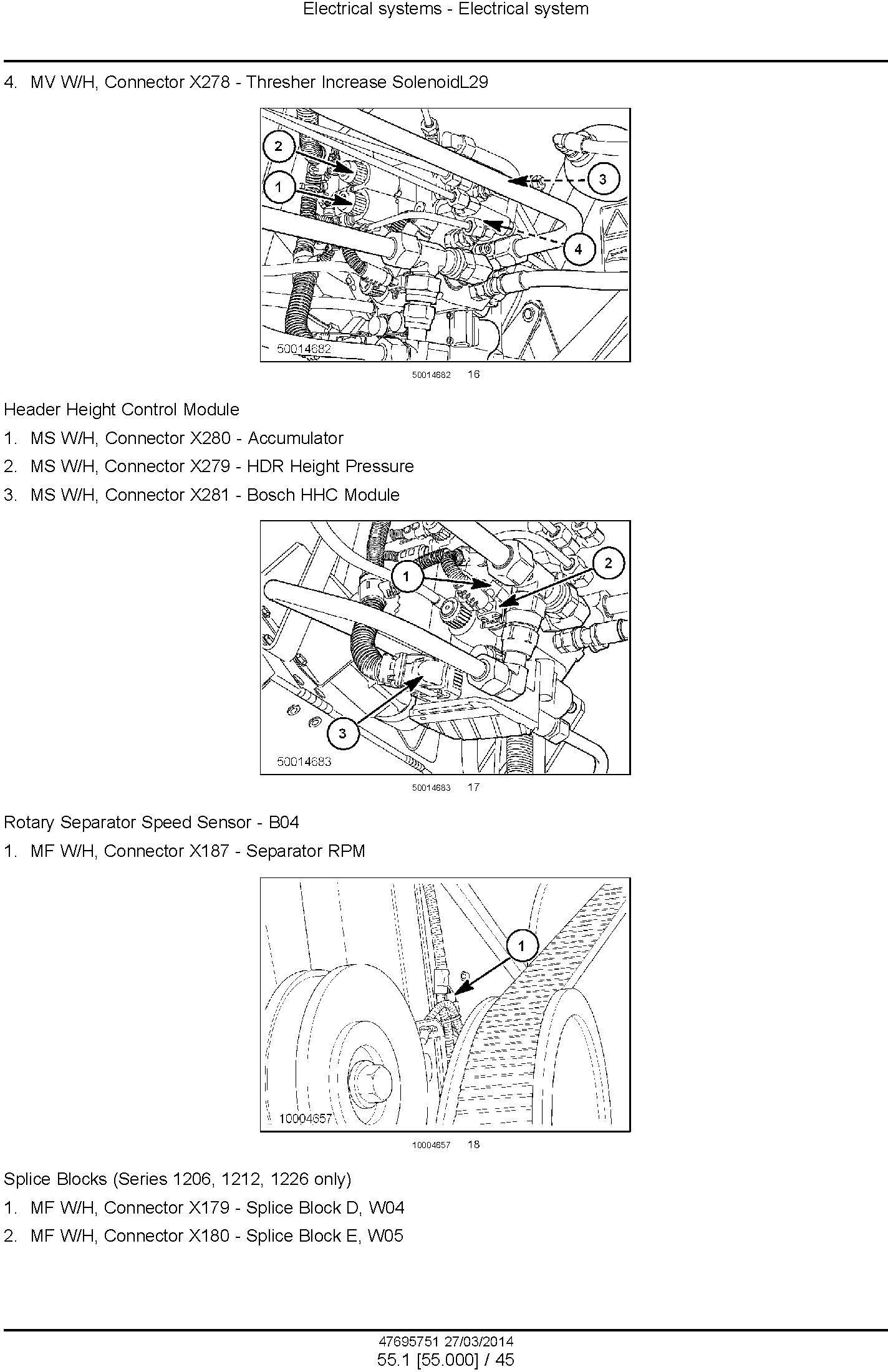 New Holland CR9090, CX8080 ELEVATION, CX8090 ELEVATION TIER 4A Combines Service Manual - 3