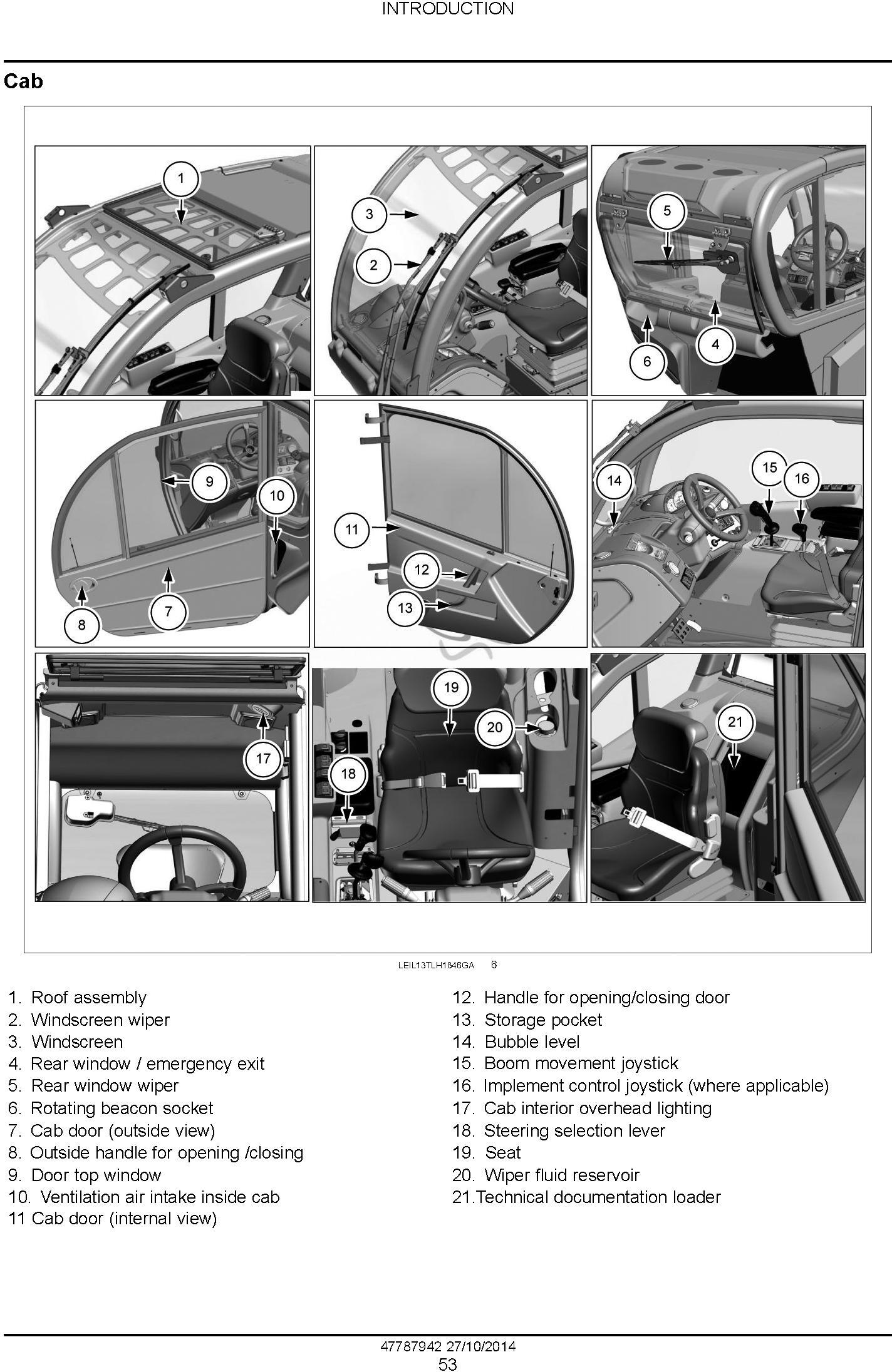 New Holland LM5020, LM5030 Tier 3 Telehandlers Service Manual - 2