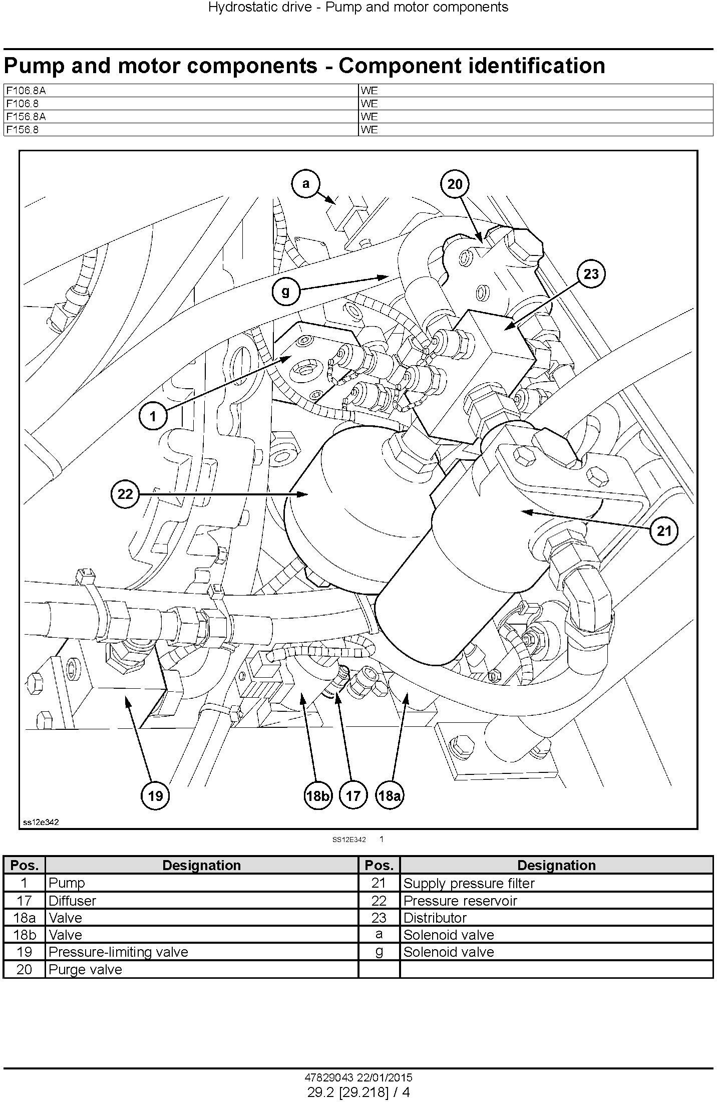 New Holland F106.8, F106.8A, F156.8, F156.8A Motor grader Service Manual - 3