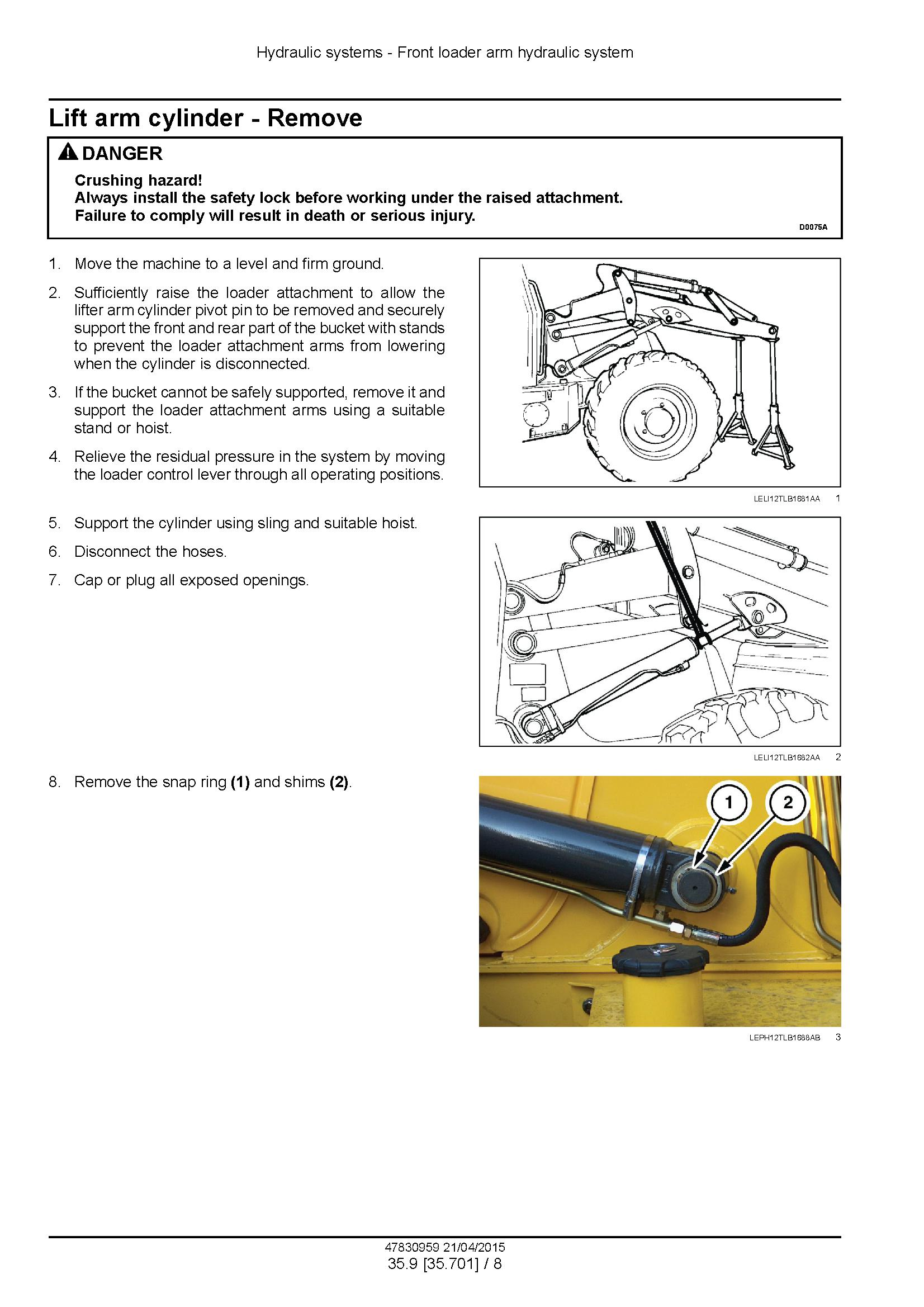 New Holland B95C, B95CTC, B110C Tier 4B (Final) Tractor Loader Backhoe Complete Service Manual - 3