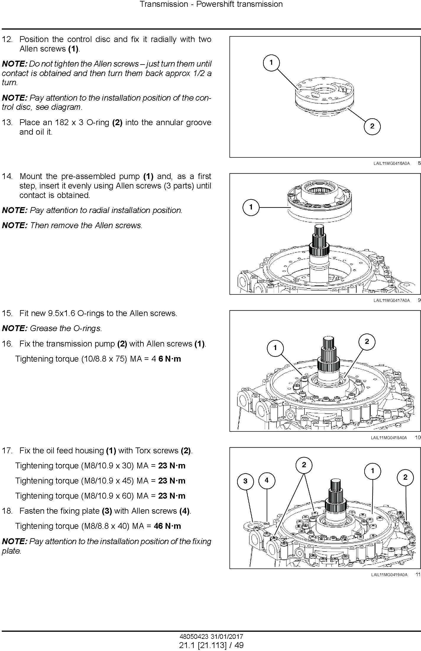 New Holland RG140.B, RG170.B, RG200.B Motor grader Service Manual (Brasil) - 2