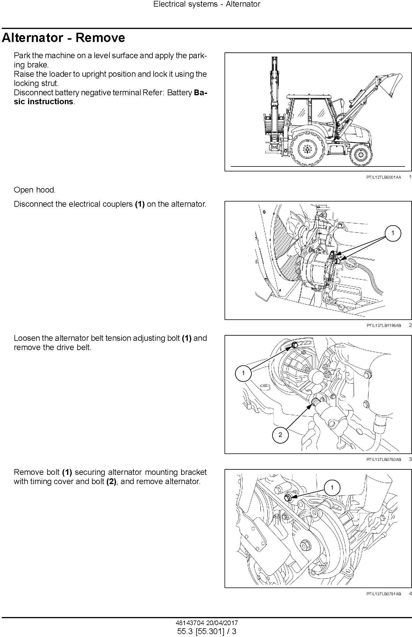 New Holland B80B Backhoe loader Service Manual - 2