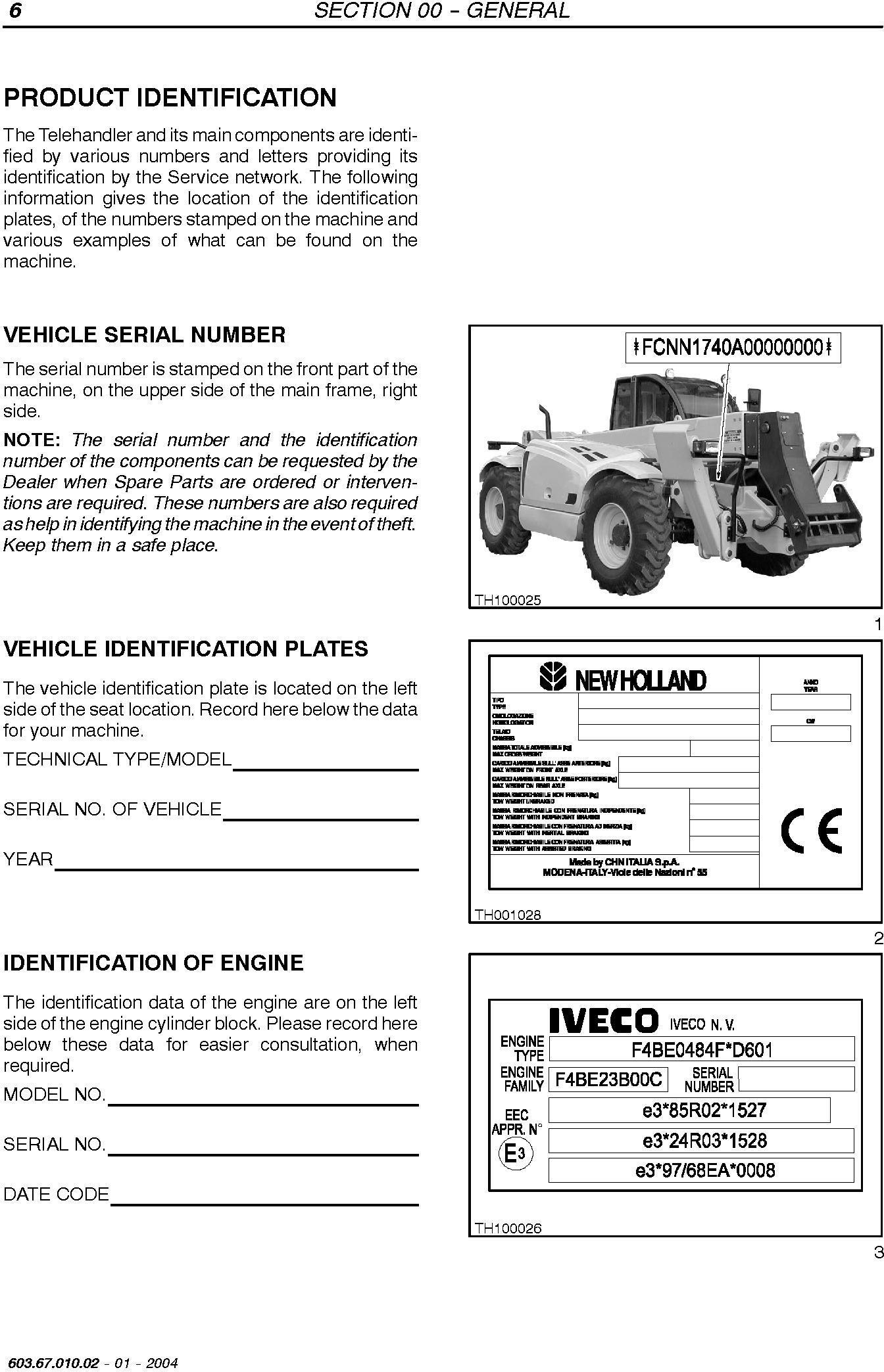 New Holland LM1340, LM1440, LM1740 Telehandler Service Manual - 1