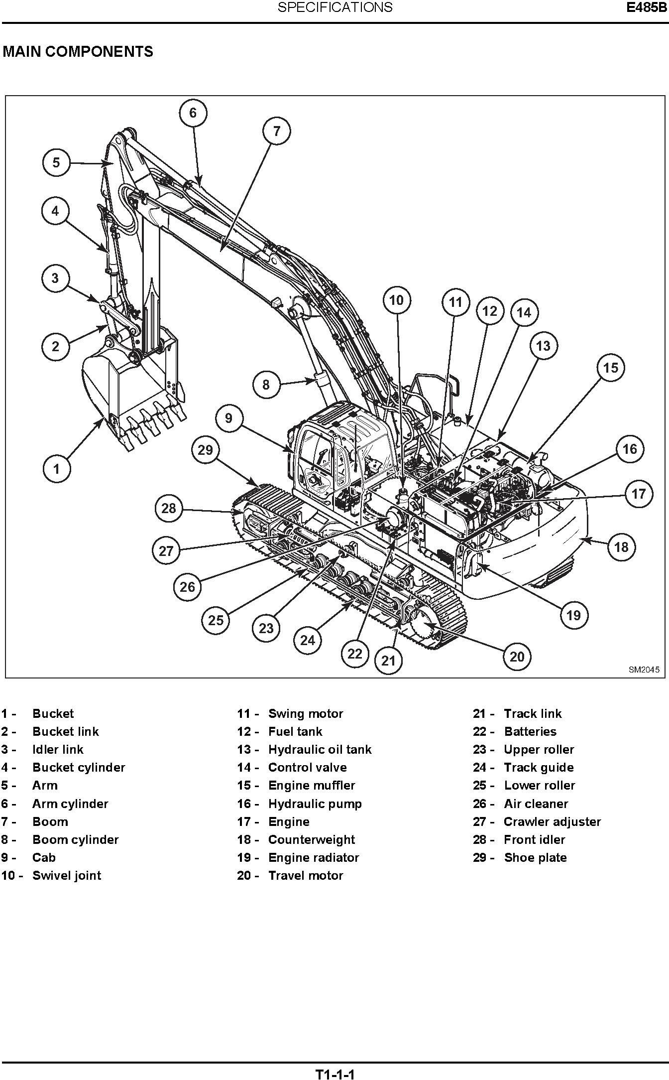 New Holland E485B Crawler Excavator Service Manual - 1