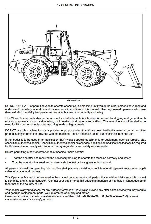 Case 821F, 921F (Tier4) Wheeled Front Loader Operating and Maintenance Instructions - 3