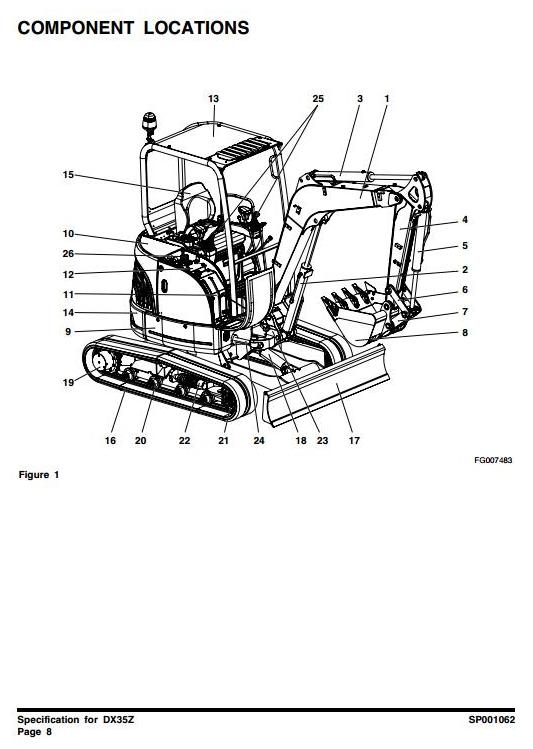 Doosan DX35Z (SN. from 5001) Excavator Workshop Service Manual - 1