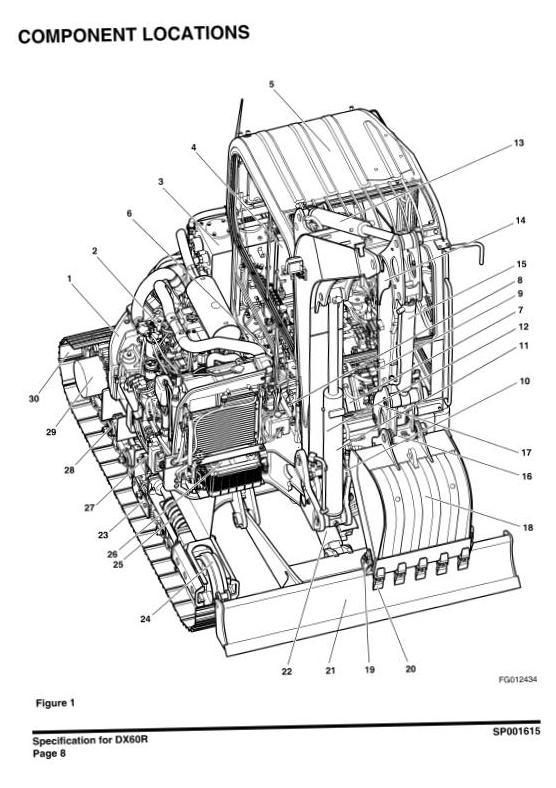 Doosan DX60R (SN. from 50001) Mini Excavator Workshop Service Manual - 1