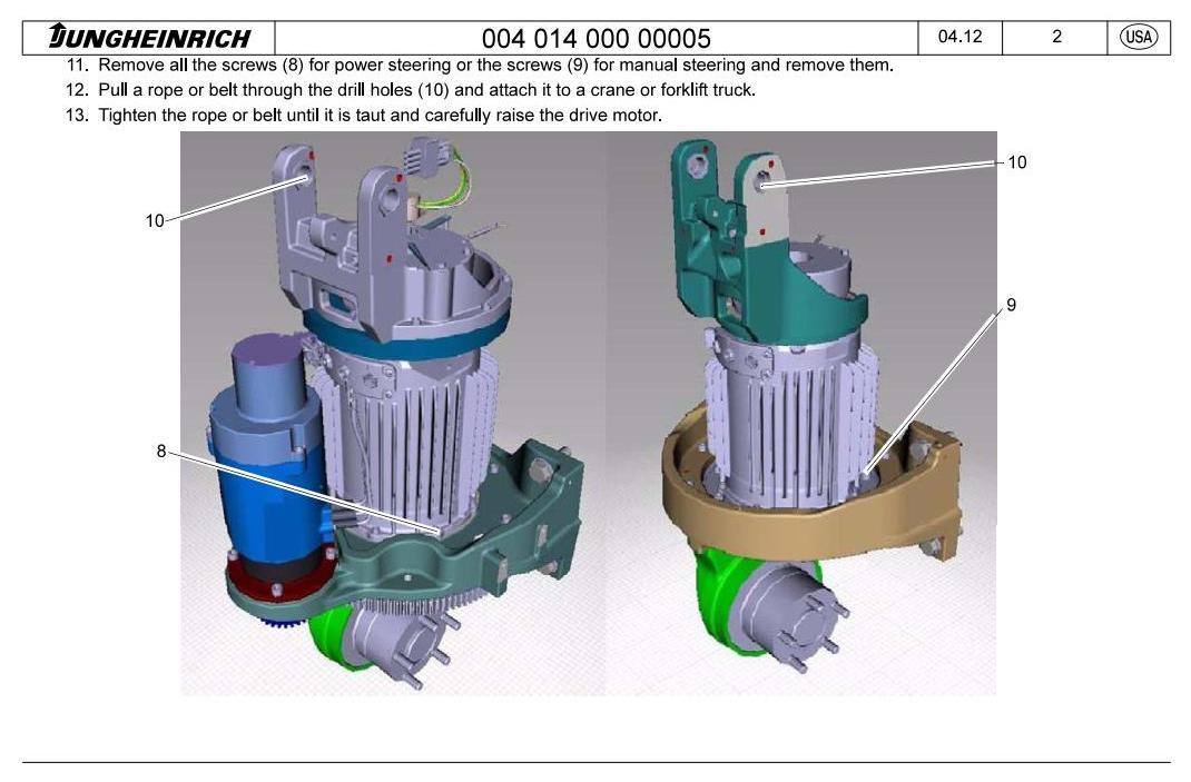 Jungheinrich ECR 327, ECR 336 (from 03.2012) Pedestrian Pallet Truck Workshop Service Manual - 2