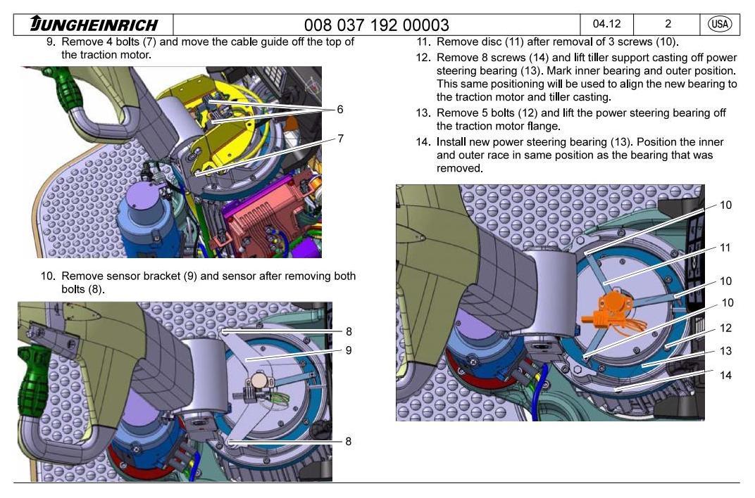 Jungheinrich ECR 327, ECR 336 (from 03.2012) Pedestrian Pallet Truck Workshop Service Manual - 1
