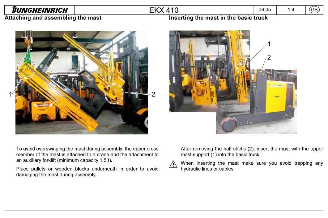Jungheinrich EKS 410 (from 12.2003) Electric Order Picker Workshop Service Manual - 1