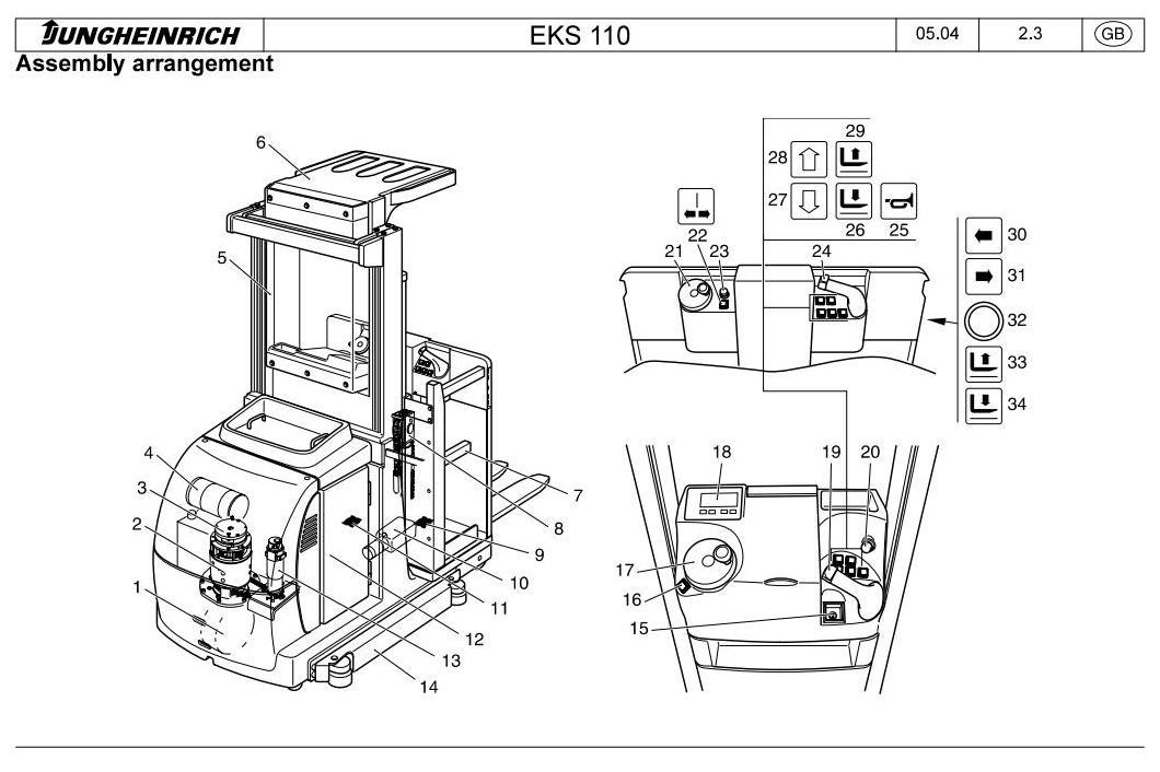 Jungheinrich EKS 110 (07.2004-03.2009) Order Picker Workshop Service Manual - 1