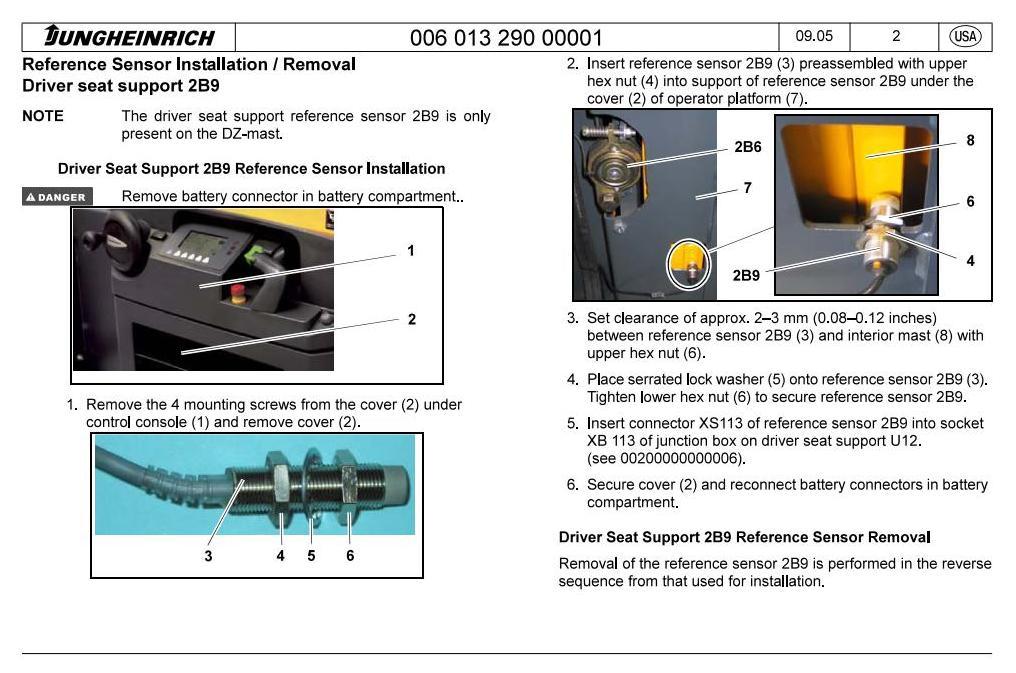 Jungheinrich EKS 308 (03.2006-01.2010) Order Picker Workshop Service Manual - 2