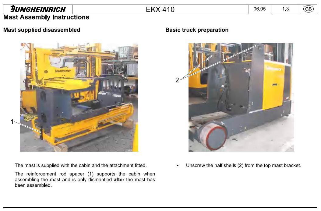 Jungheinrich EKX-410 (11.2003-05.2012) Electric Three-way OrderPicker Workshop Service Manual - 1