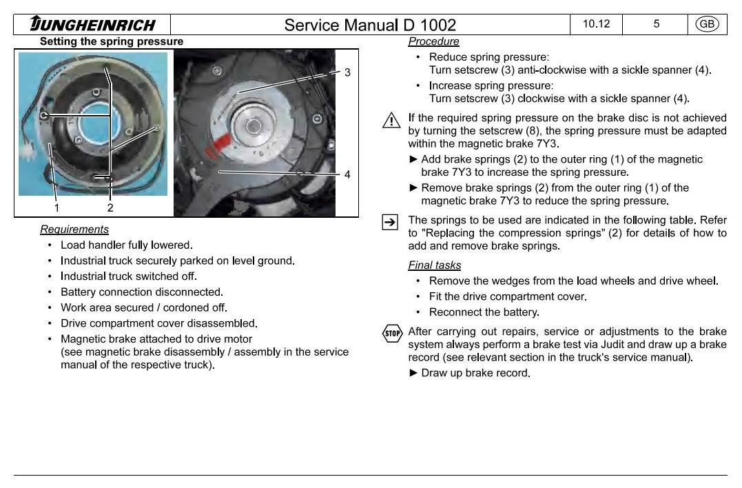 Jungheinrich EKX-410 (11.2003-05.2012) Electric Three-way OrderPicker Workshop Service Manual - 2