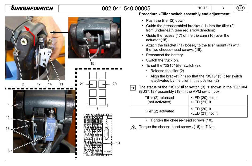 Jungheinrich ERC 215a (from 12.2012) Electric stacker Workshop Service Manual - 2