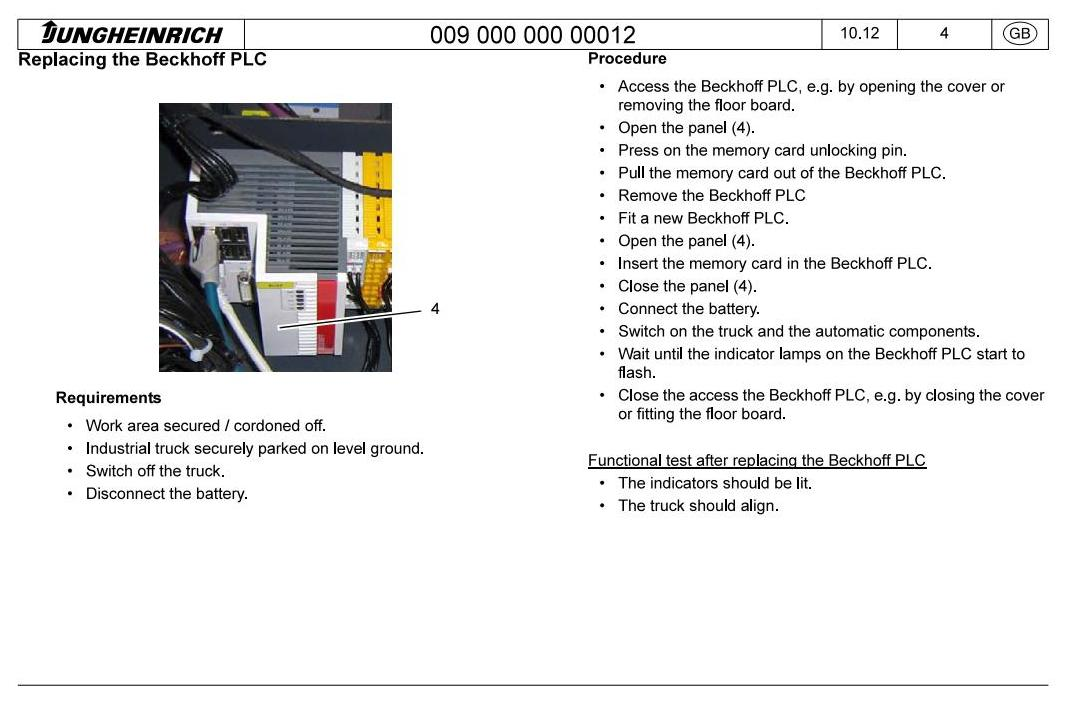 Jungheinrich ERC 215a (from 12.2012) Electric stacker Workshop Service Manual - 1