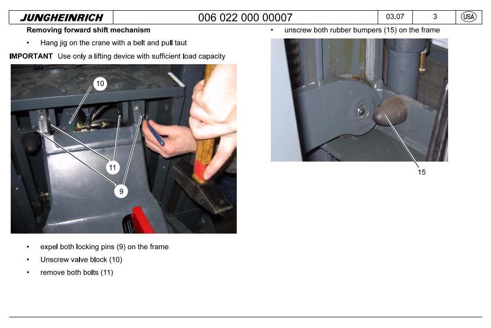 Jungheinrich ETR230, ETR235, ETR335D, ETR340, ETR345 Electric Reach Truck Workshop Service Manual - 2