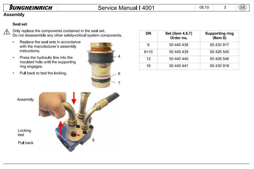 Jungheinrich ETV114N, ETV116N, ETV118N, ETV120N (from 05.2012) Electric Reach Truck Service Manual - 2