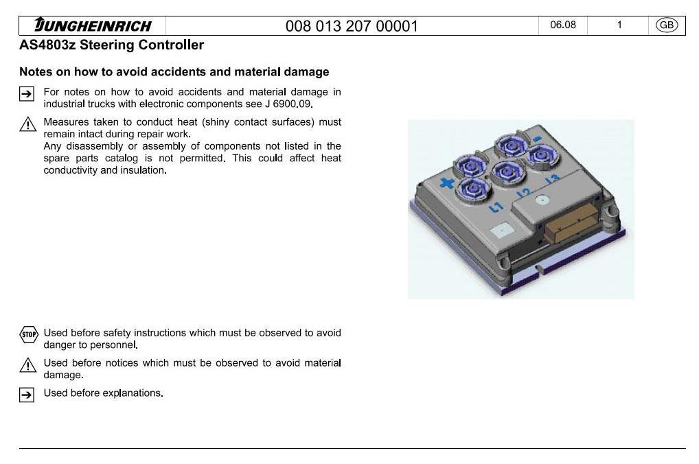 Jungheinrich ETV114N, ETV116N, ETV118N, ETV120N (from 05.2012) Electric Reach Truck Service Manual - 1
