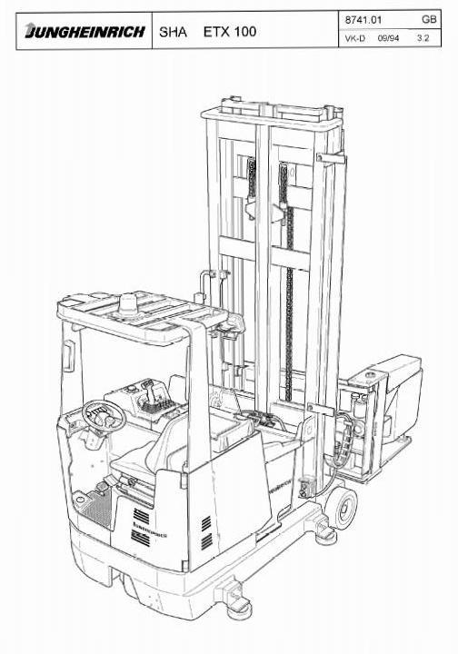 Jungheinrich ETX 100 (03.1994-05.1997) Electric tri-lateral stacker Workshop Service Manual - 1