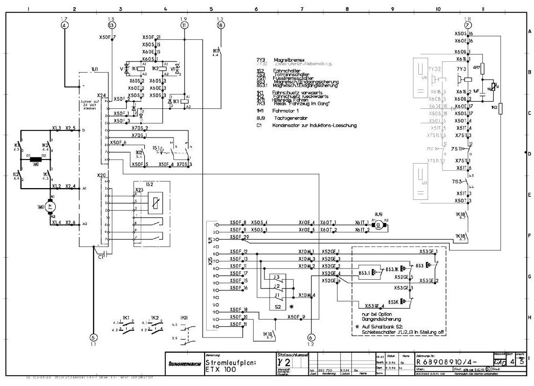 Jungheinrich ETX 100 (03.1994-05.1997) Electric tri-lateral stacker Workshop Service Manual - 3