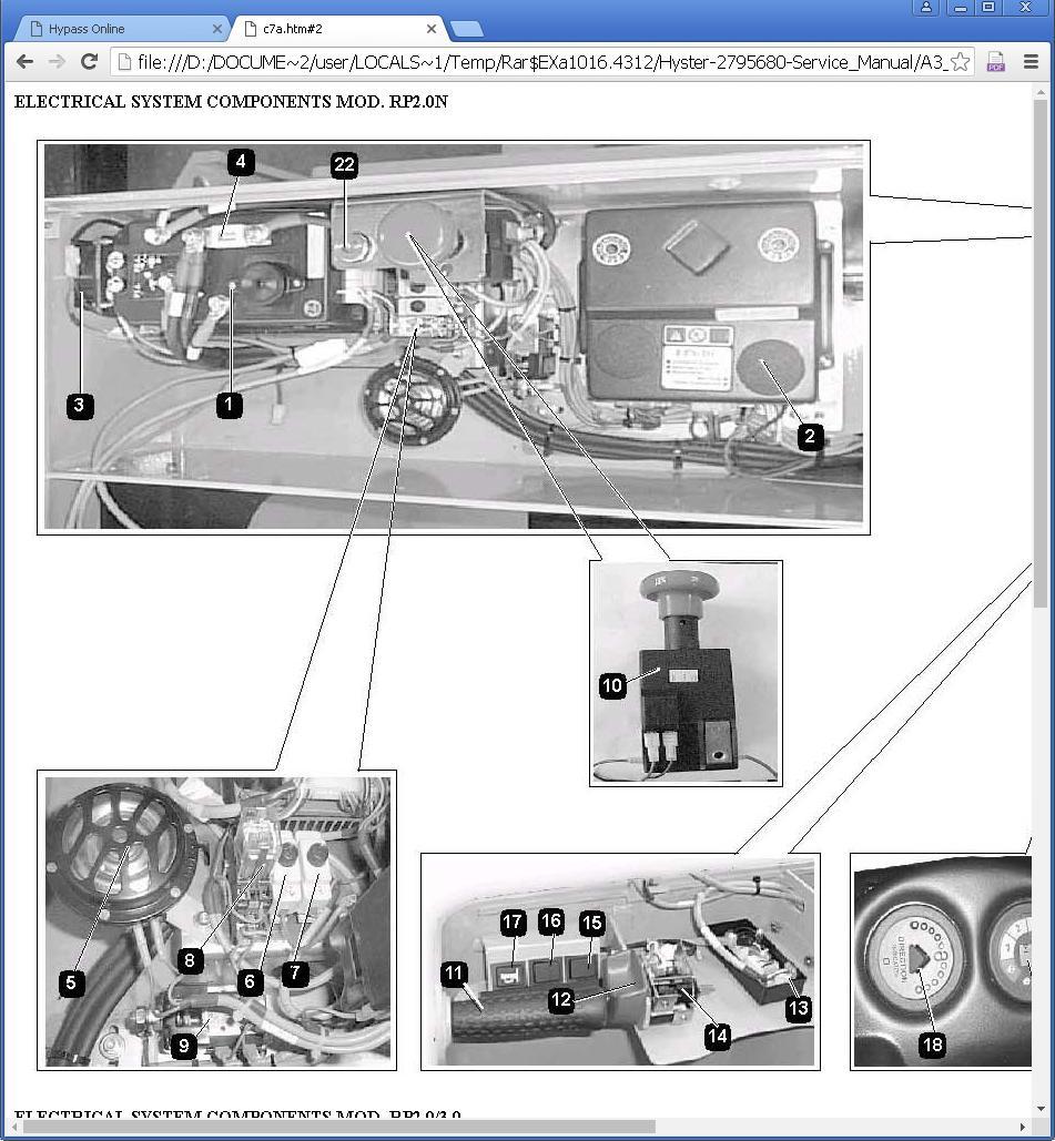Hyster RP2.0, RP3.0, RP2.0N Electric Pallet Truck B448, B449 Series Workshop Service Manual - 2