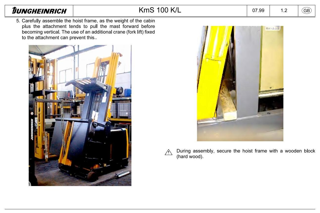 Jungheinrich EKS 310, EKS 310K (07.2004-07.2009) Order Picker Workshop Service Manual - 1