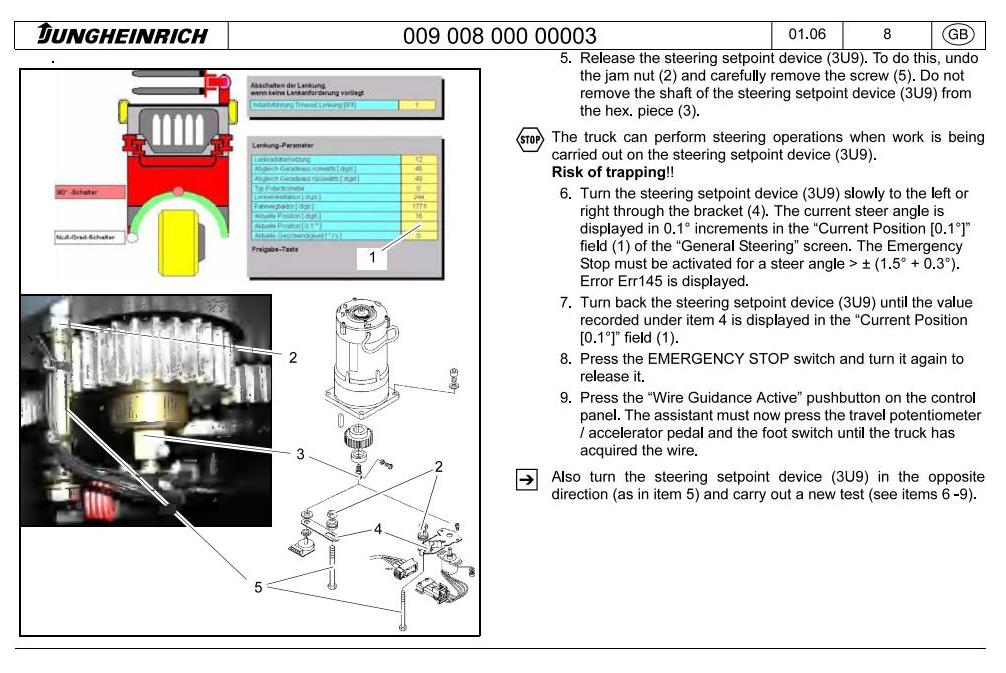 Jungheinrich EKS 310, EKS 310K (07.2004-07.2009) Order Picker Workshop Service Manual - 3
