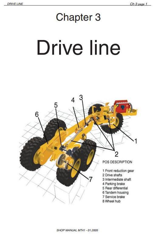 Doosan / Moxy MT41 Articulated Dump Truck Workshop Service Manual - 1