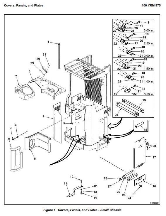 Yale NDR030CB, NR045CB Electric Reach Truck D829 Series Workshop Service Maintenance Manual - 1