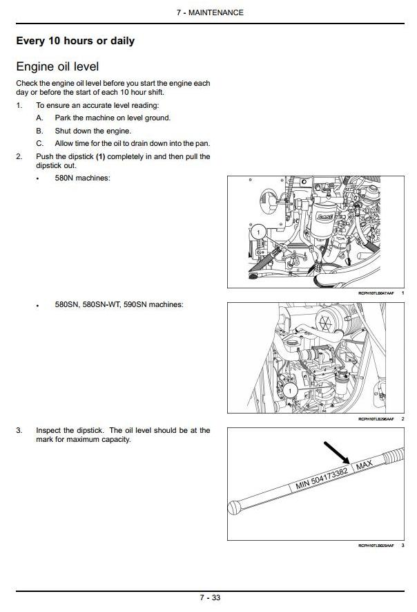 Case 580N, 580SN, 580SN-WT, 590SN Backhoe Loader Operating and Maintenance Instructions - 2