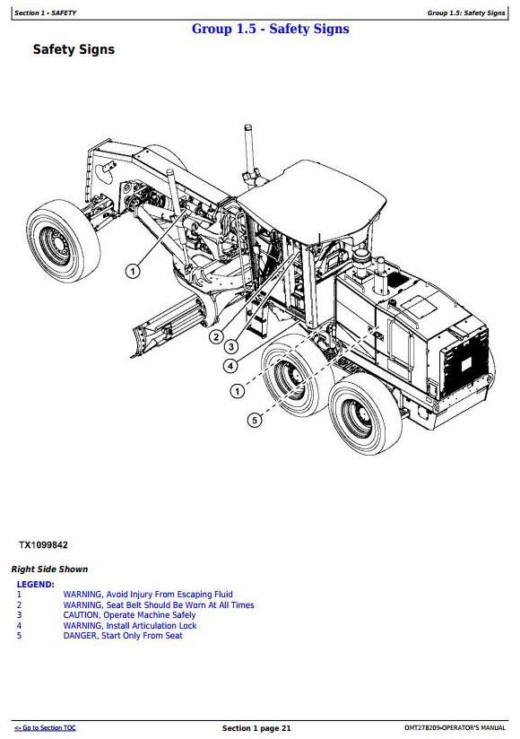 John Deere 870G, 870GP, 872G, 872GP (SN. 634754-) Motor Grader Operator's Manual (OMT278209) - 3