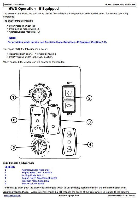 John Deere 870G, 870GP, 872G, 872GP (SN. 634754-) Motor Grader Operator's Manual (OMT278209) - 2