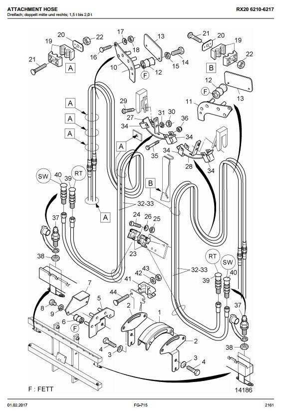 Still RX20-15, RX20-16, RX20-18, RX20-20 Electric Forklift Truck Series 6210-6217 Spare Parts Manual - 1