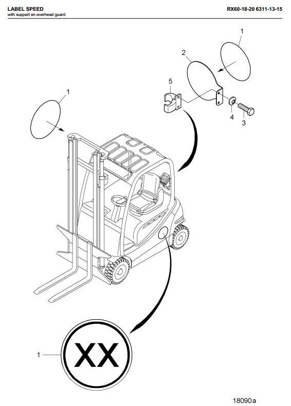 Still RX60-16, RX60-18, RX60-20 Electric ForkLift Truck Series R6311, R6313,R6315 Spare Parts Manual - 1