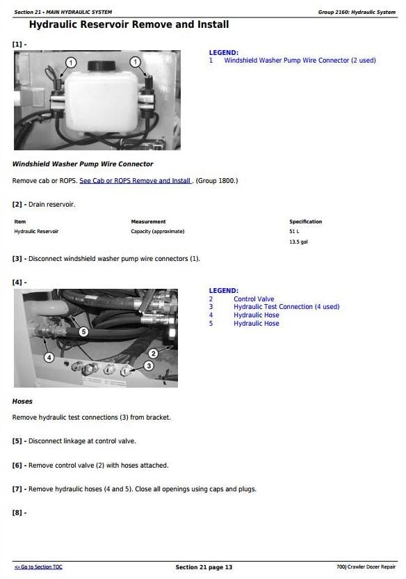 John Deere 700J Crawler Dozer (S.N. from 139436) Service Repair Technical Manual (TM10269) - 2