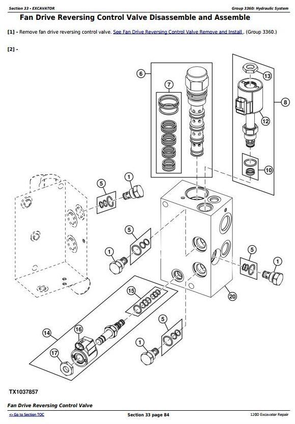 John Deere 120D Excavator Service Repair Manual (TM10737) / Truck