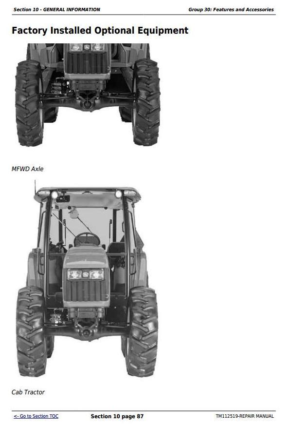 John Deere Tractors 5083E, 5093E, 5101E and Limited Models ... on