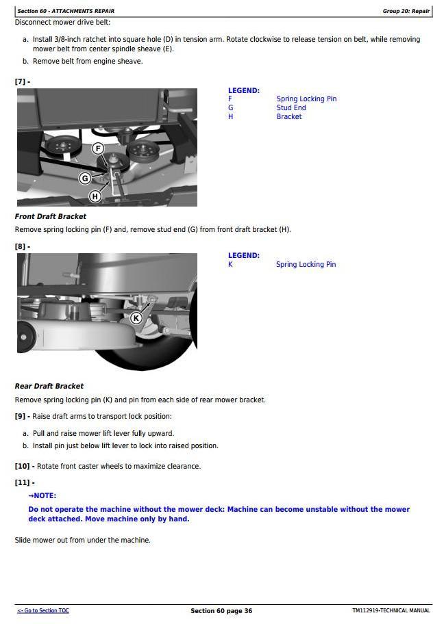 John Deere Z225, Z245, Z235, Z255 EZtrak Riding Lawn Residential Mower Technical Service Manual TM112919 - 3