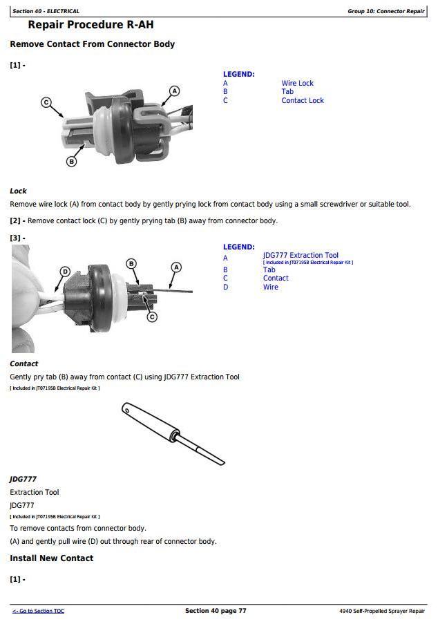 John Deere 4940 Self-Propelled Sprayers Service Repair