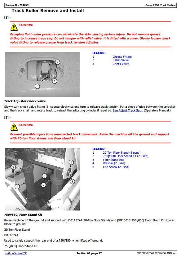 John Deere 850J Crawler Dozer with Engine 6068HT090 Service Repair Technical Manual (TM12323) - 3