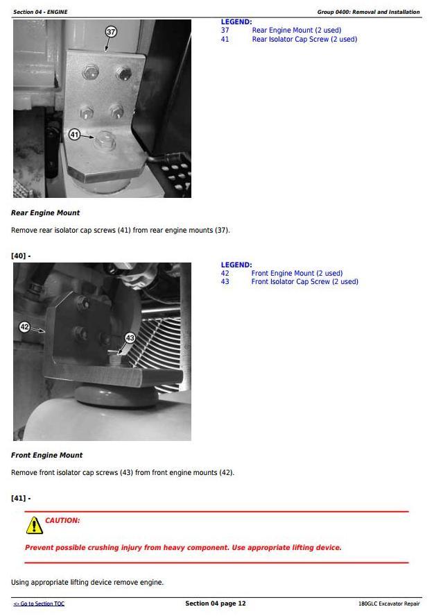 John Deere 180GLC (PIN: 1FF180GX__E020001-) iT4/S3B Excavator Service Repair Manual (TM12339) - 1