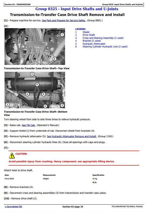 John Deere 250D, 300D Ser.2 Articulated Dump Truck (SN.from E642001) Service Repair Manual (TM12404) - 2