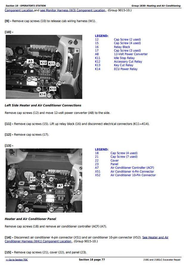 John Deere 210G and 210GLC (PIN: 1FF210GX__C520001-) T2/S2 Excavator Service Repair Manual (TM12539) - 1