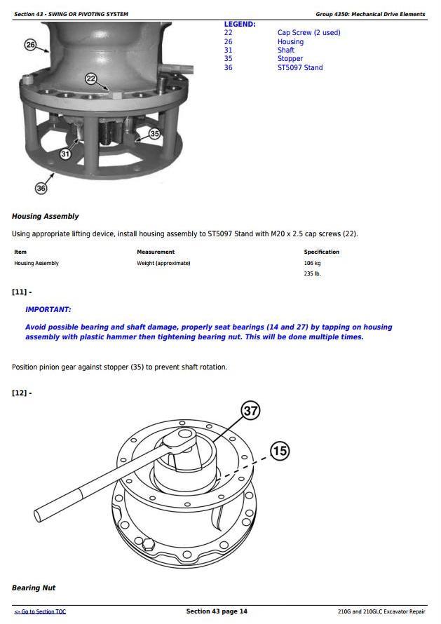 John Deere 210G and 210GLC (PIN: 1FF210GX__C520001-) T2/S2 Excavator Service Repair Manual (TM12539) - 3
