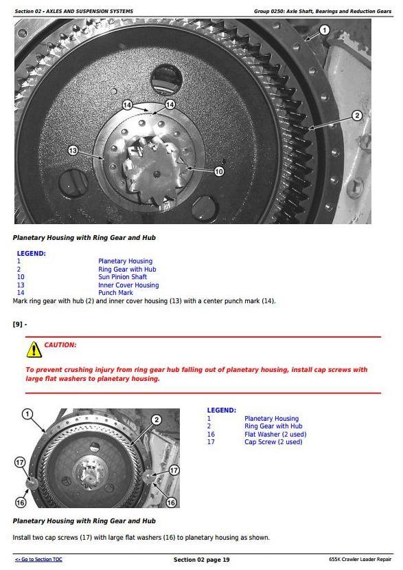John Deere 655K Crawler Loader Service Repair Technical Manual (TM12721) - 1