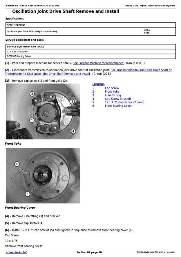 John Deere 370E, 410E, 460E Articulated Dump Truck (SN:D634583-668586) Service Repair Manual (TM13032) - 1
