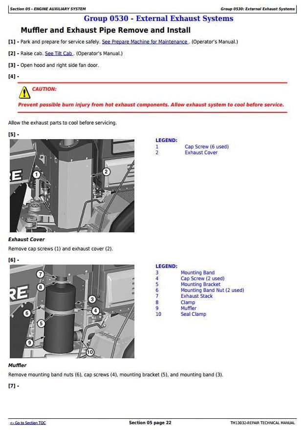 John Deere 370E, 410E, 460E Articulated Dump Truck (SN:D634583-668586) Service Repair Manual (TM13032) - 2