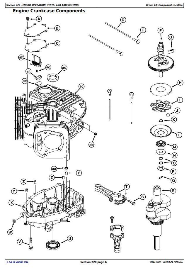 John Deere S240 Engine Manual Guide